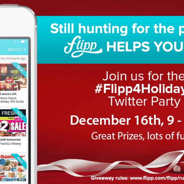 Join #Flipp4Holidays Twitter Party with @GetFlipp Dec 16th, 9pm EST