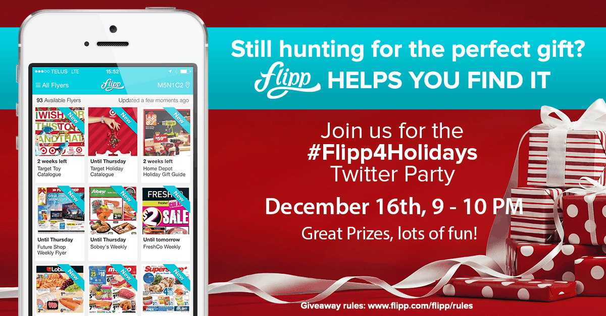 Flipp holiday twitter party
