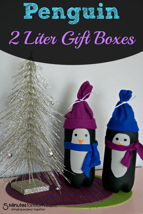 Penguin 2 Liter Gift Boxes / by Busy Moms Helper for 5MinutesforMom.com #penguin #giftidea