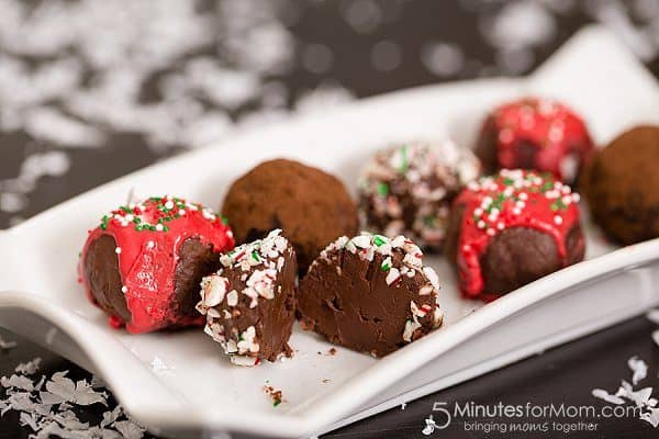 Dark Chocolate Peppermint Kahlua Truffles