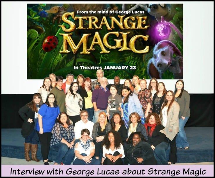 George Lucas Interview Group Photo Strange Magic