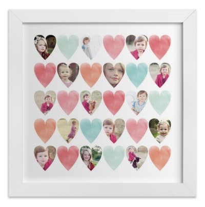 Minted Personalized Hearts Wall Print