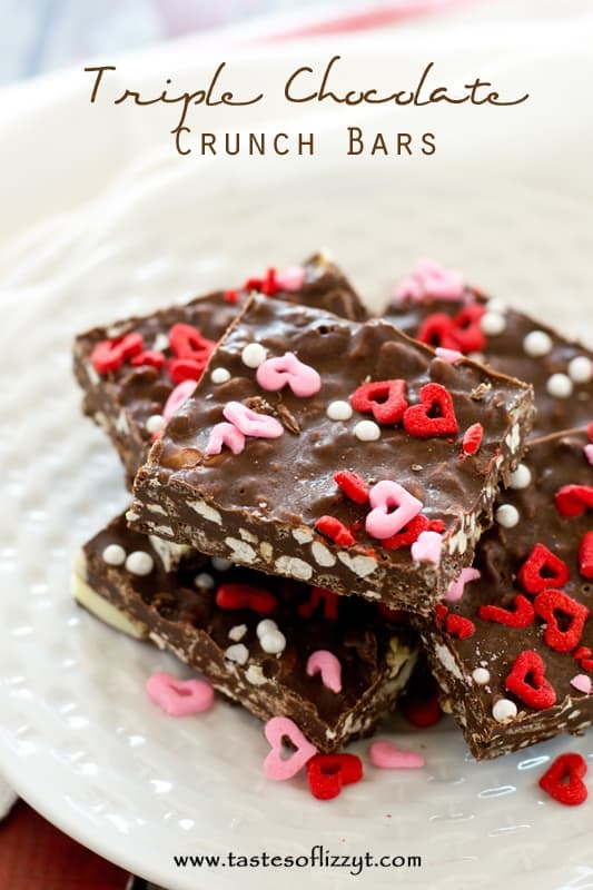 Triple-Chocolate-Crunch-Bars - Tastes of Lizzy T