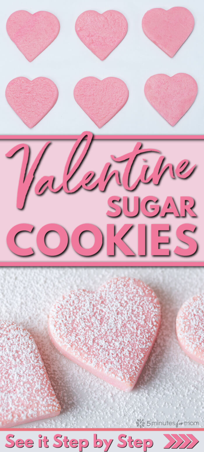 Valentine Sugar Cookies Recipe - Easy Valentines Day Cookies