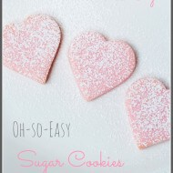 Fast and Easy Valentine's Sugar Cookies