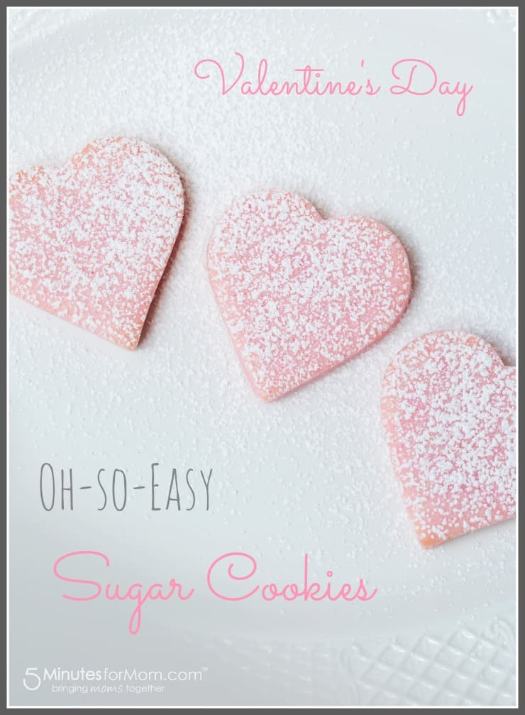 Super fast and easy Valentines Sugar Cookies