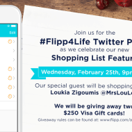Flipp has a new Shopping List – Join the #Flipp4Life Twitter Party – Feb 25, 9pm ET