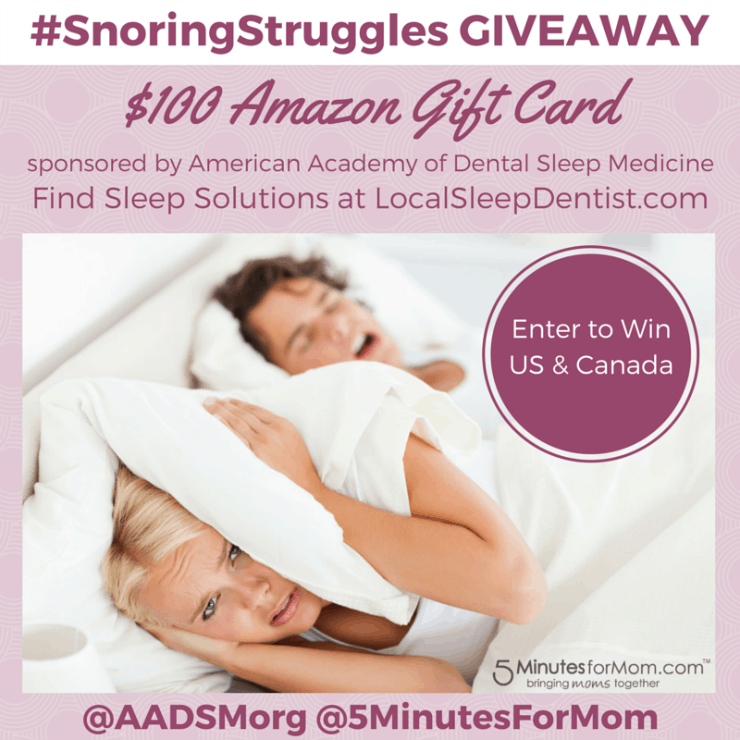 SnoringStruggles Giveaway Gift Card