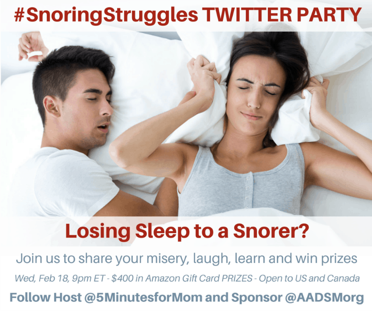 SnoringStruggles Twitter Party