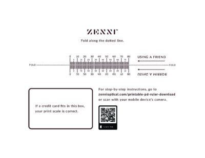 photograph about Printable Pd Ruler named Zenni-Optical-PD-Ruler - 5 Minutes for Mother