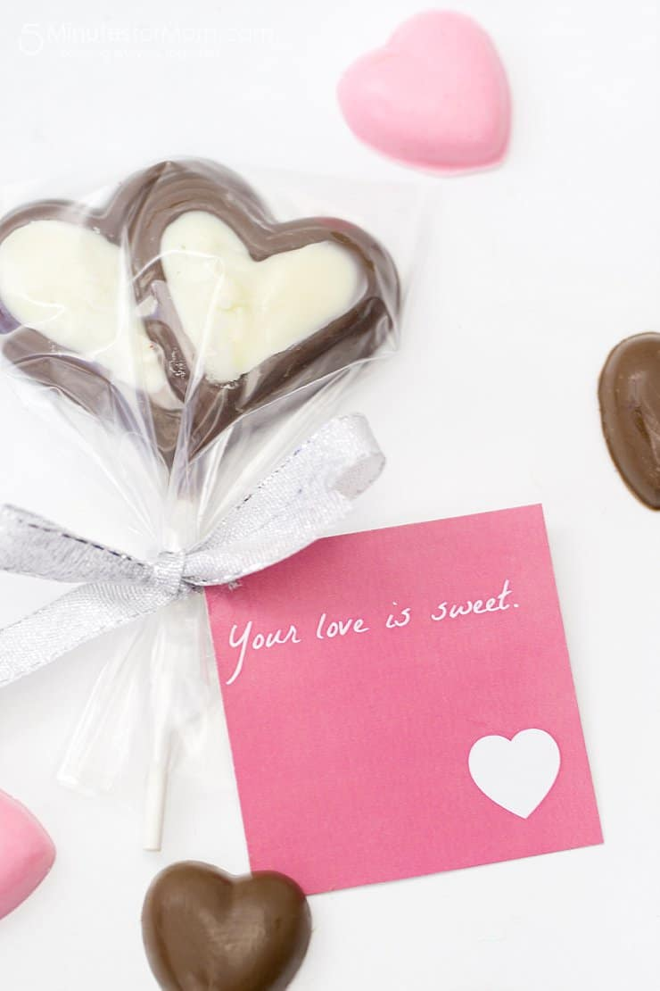 Valentines Chocolate Molds and Free Printables