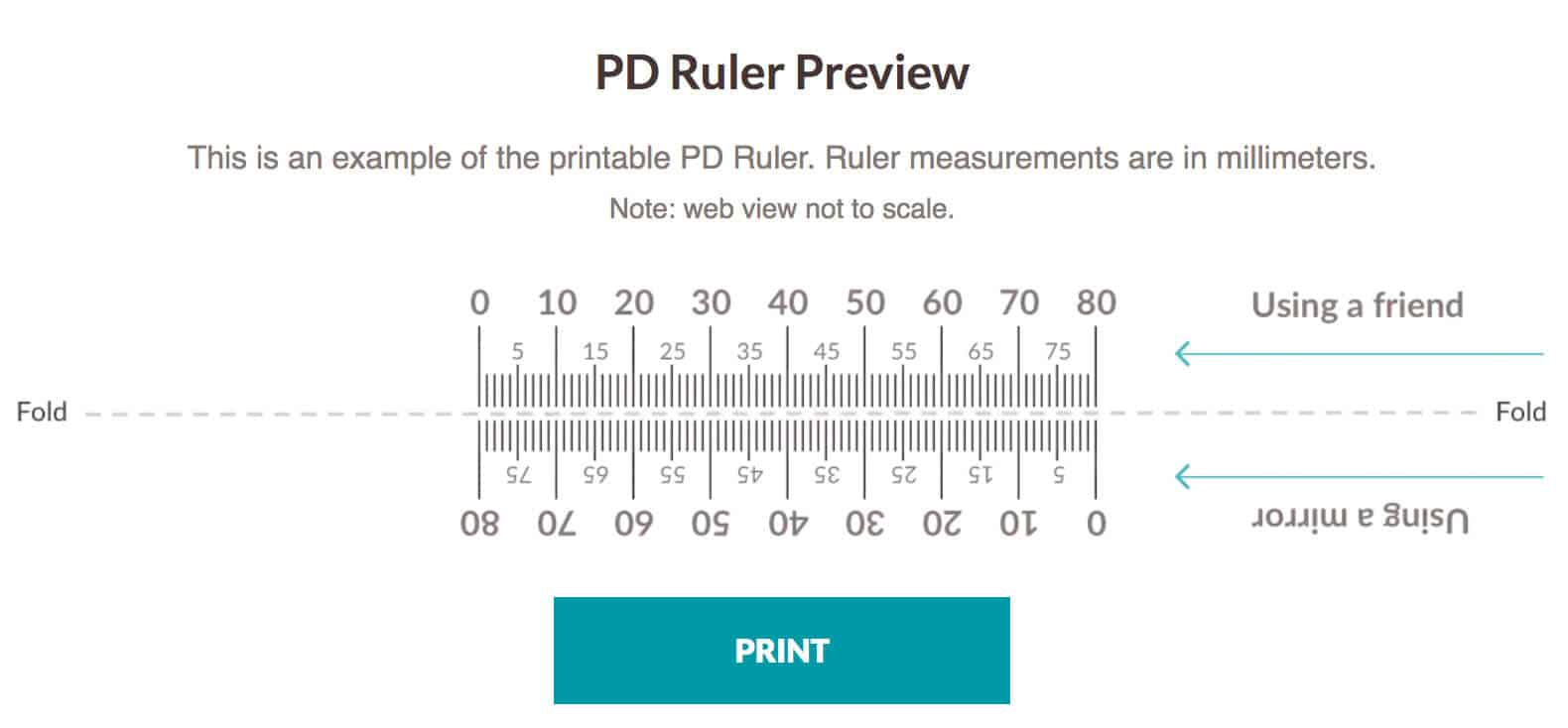 graphic relating to Printable Pupillary Distance Ruler called Order Economical Prescription Eyegles at Zenni Optical - 5