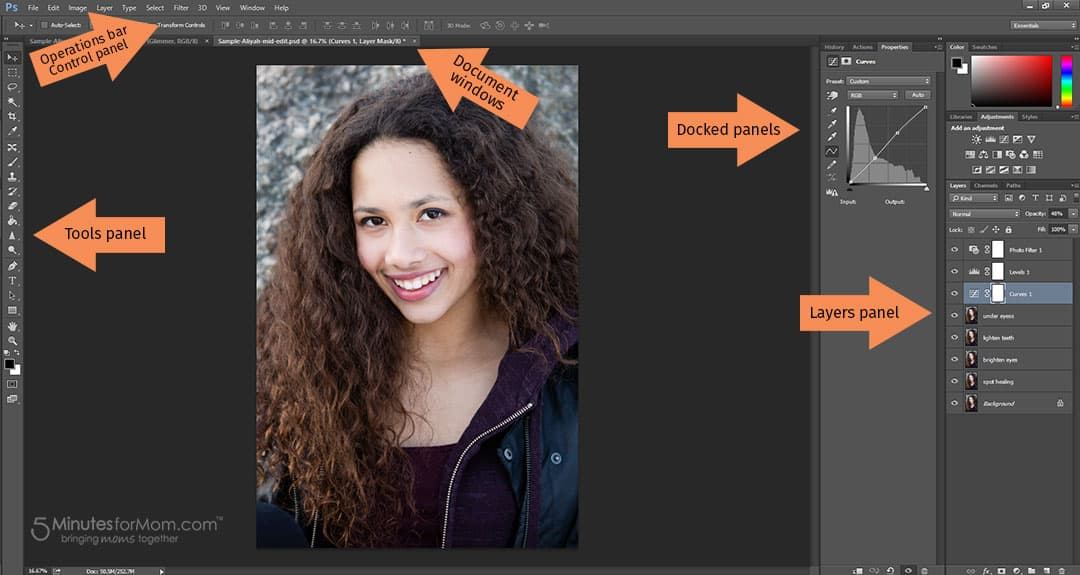 How to use photoshop - an introduction tutorial to the Photoshop workspace that allows new users to get familiar with the interface, understand the layout and learn the basic functions and key tools.