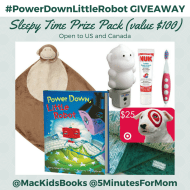 Win a Sleepy Time Prize Pack including the New Book #PowerDownLittleRobot