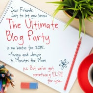 The Ultimate Blog Party is on Hiatus for 2015, but…