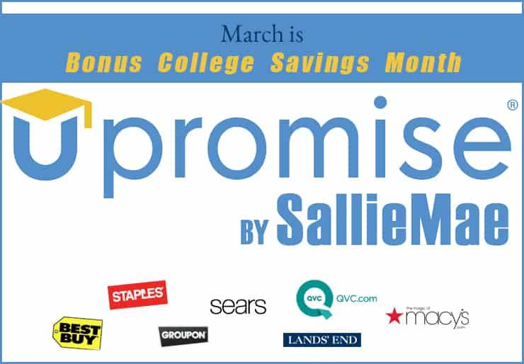 upromise march bonus college savings month