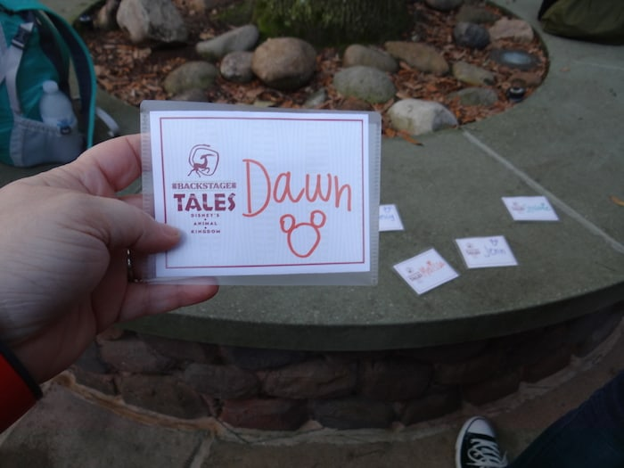 Backstage Tales - Name tag
