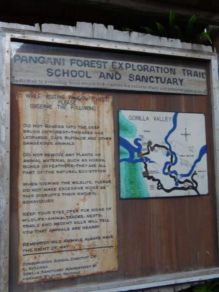 Backstage Tales - Pangani Forest Map