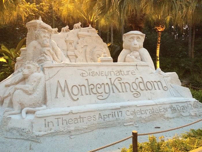Monkey Kingdom Sand Scuplture