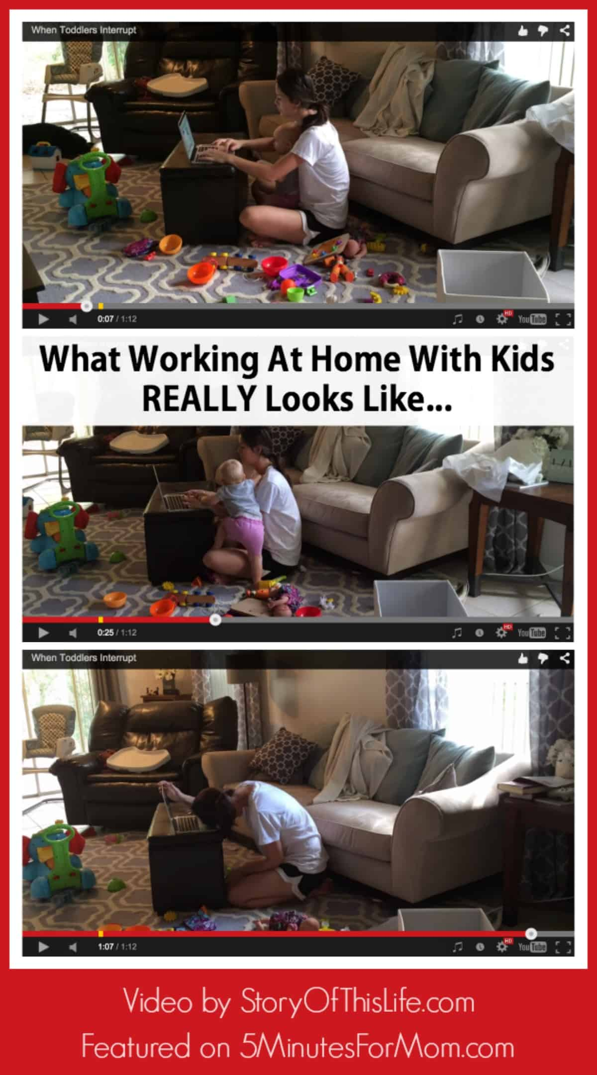 What Working At Home With Kids Really Looks Like