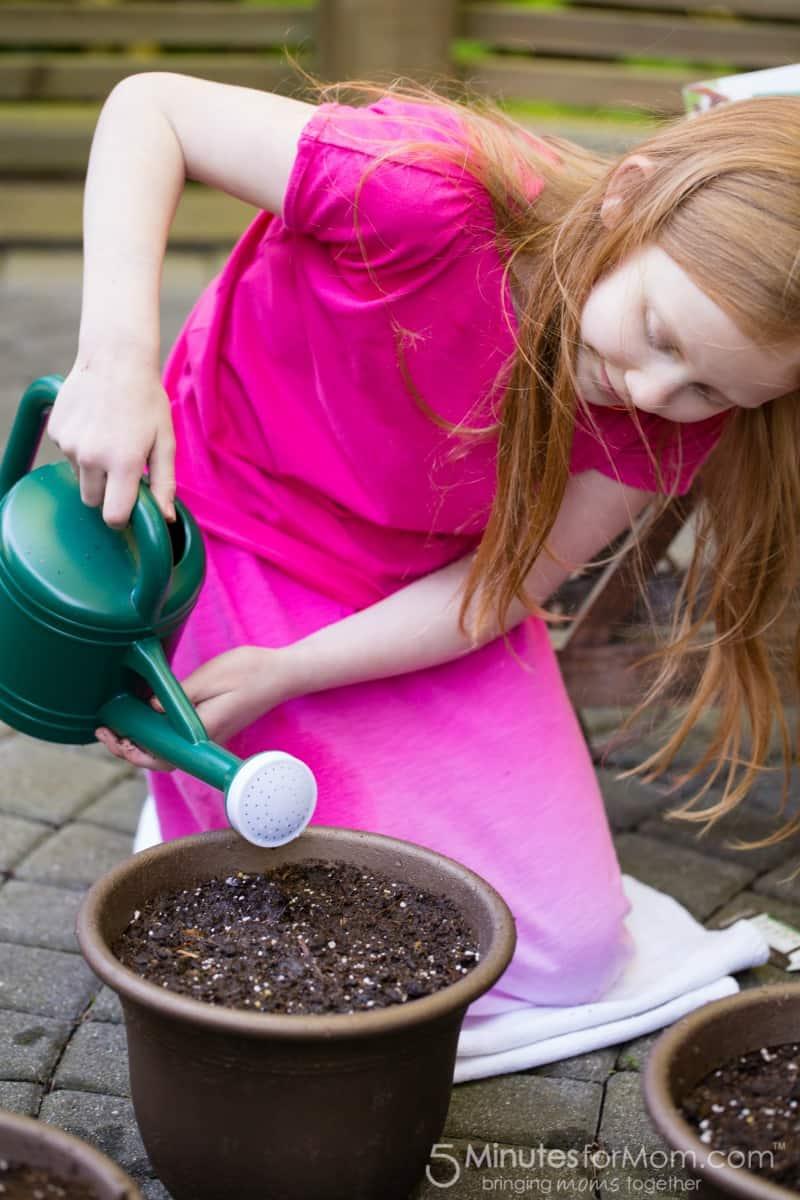 Julia planting seeds