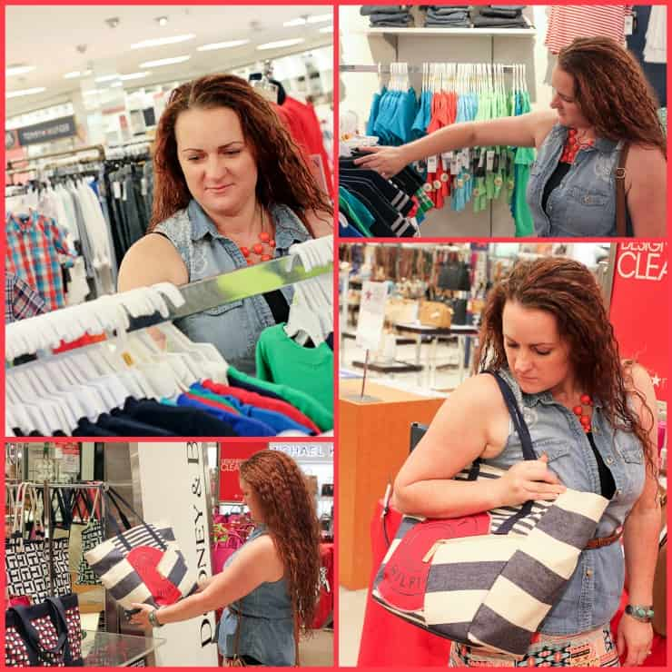 Shopping at Macy's with Plenti Collage