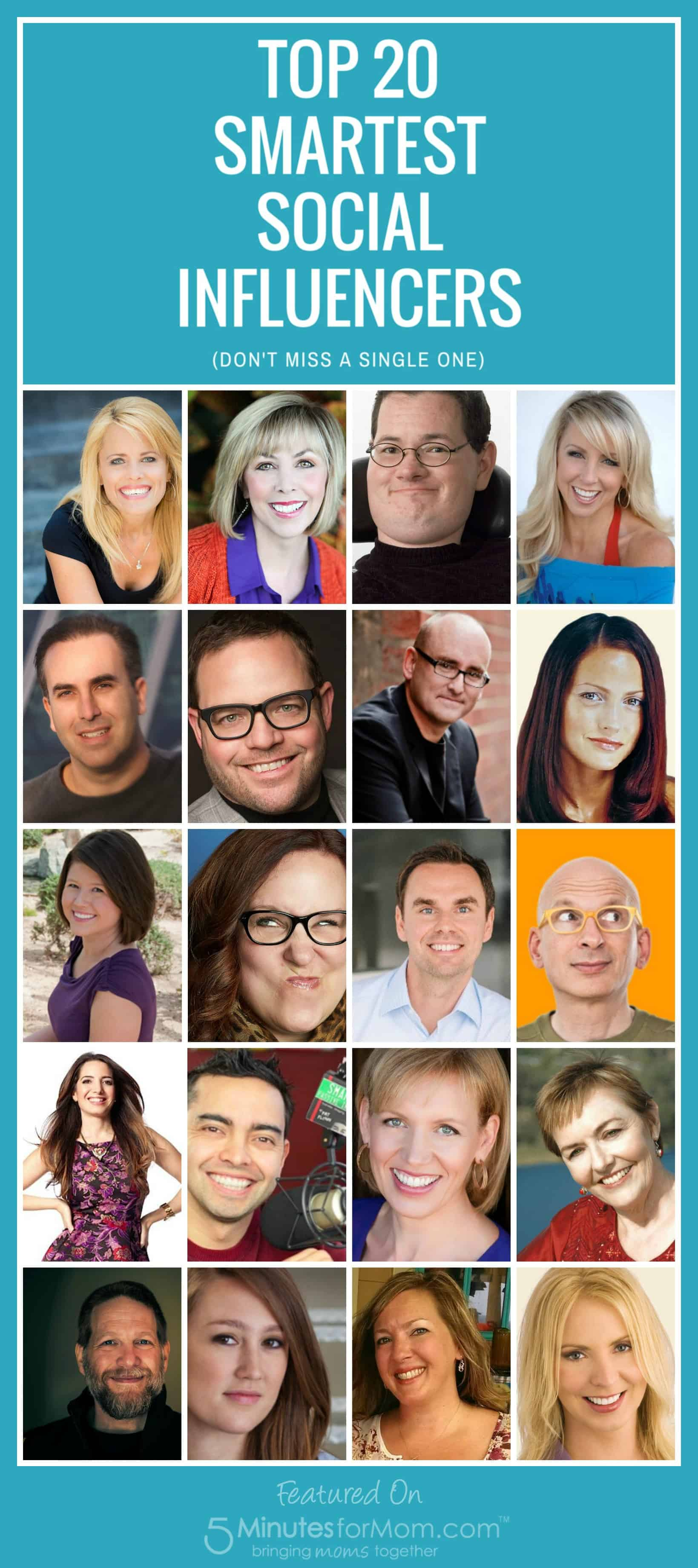 Top 20 Smartest Social Influencers List