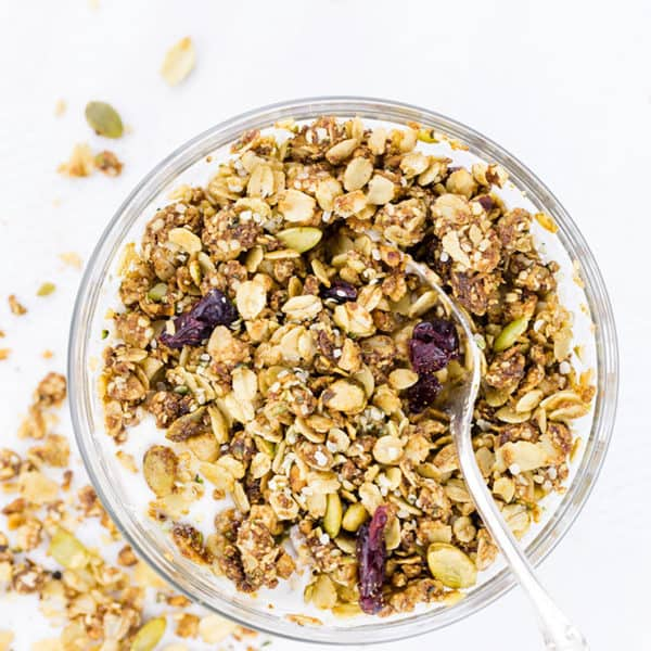 Healthy Granola Recipe with Hemp Hearts and Coconut Oil