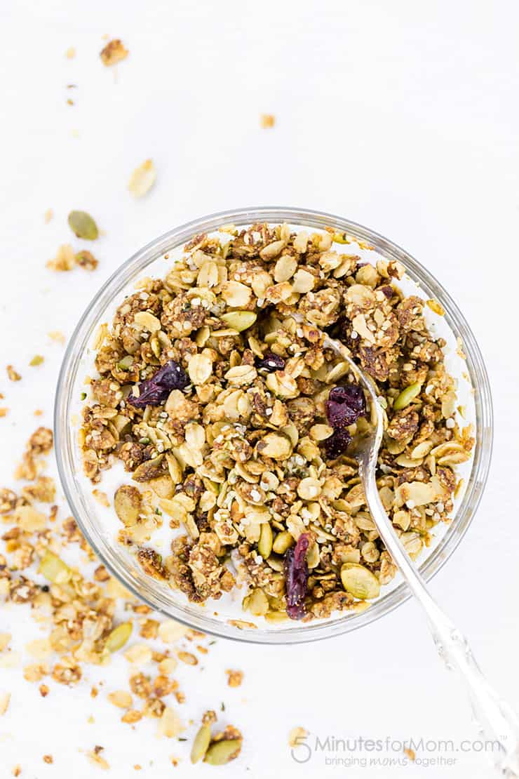 Healthy Granola Recipe With Hemp Hearts