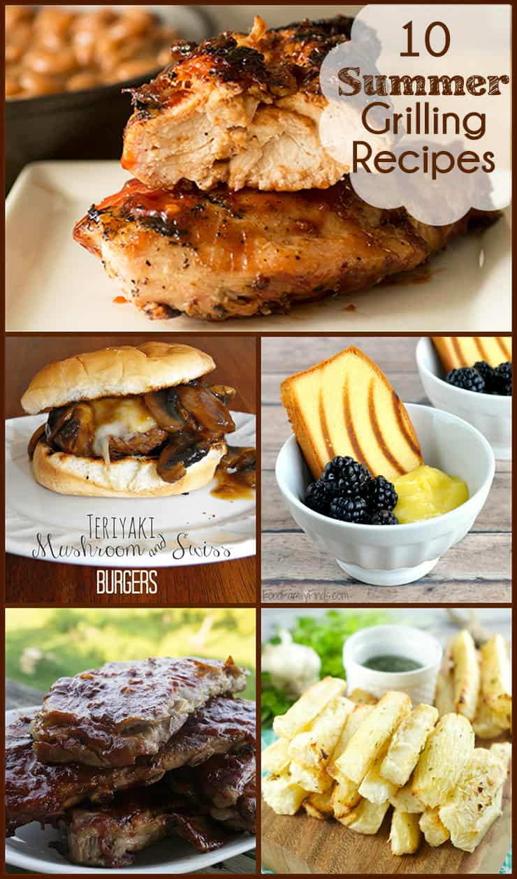 10 Summer Time Grilling Recipes that will make your mouth water.
