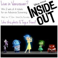 Attend an Advance Screening of #InsideOut in #Vancouver – #Giveaway