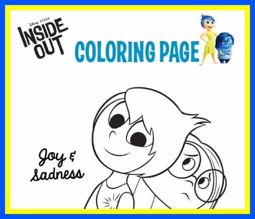 Colouring Pages Inside Out : Inside out coloring activity sheets and recipes #insideout 5