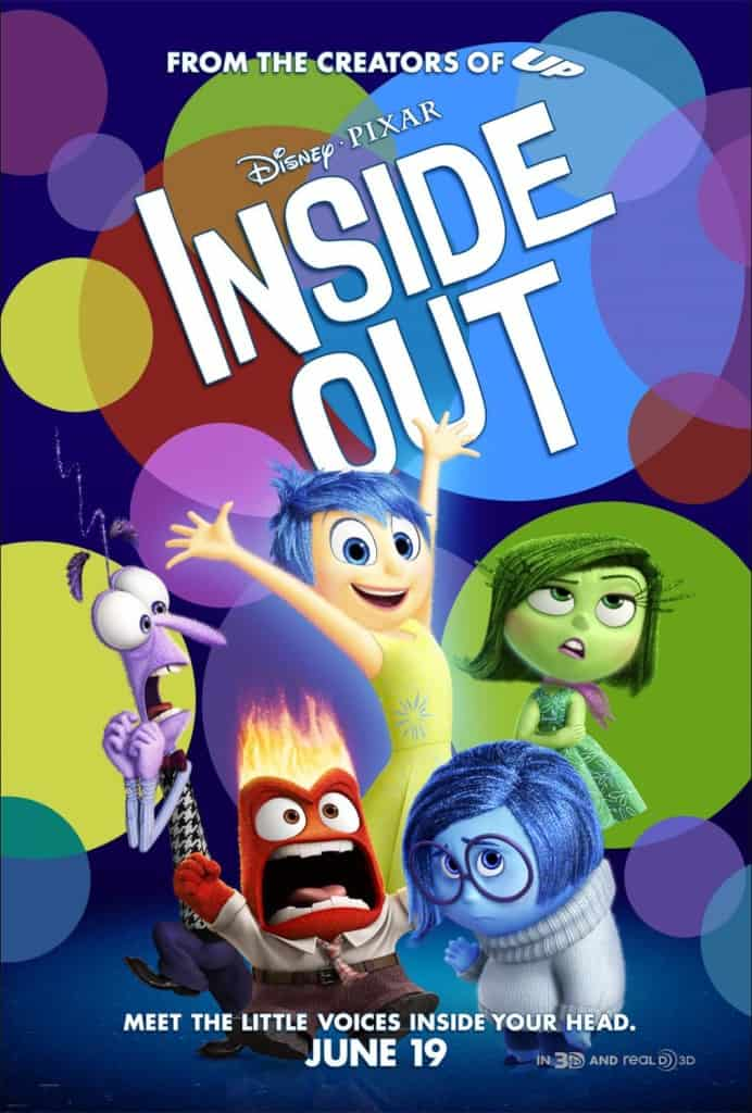 Parent review of InsideOut, new Pixar movie