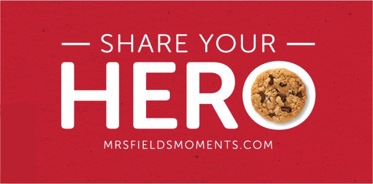 Mrs. Field's Is Searching for America's Hometown Heroes. Who is your hero? | 5minutesformom.com #ShareYourHero