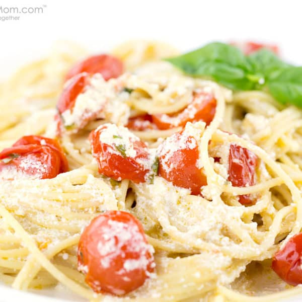 Spaghetti Con Ricotta E Pomodorini Recipe by David Rocco #ShareTheTable