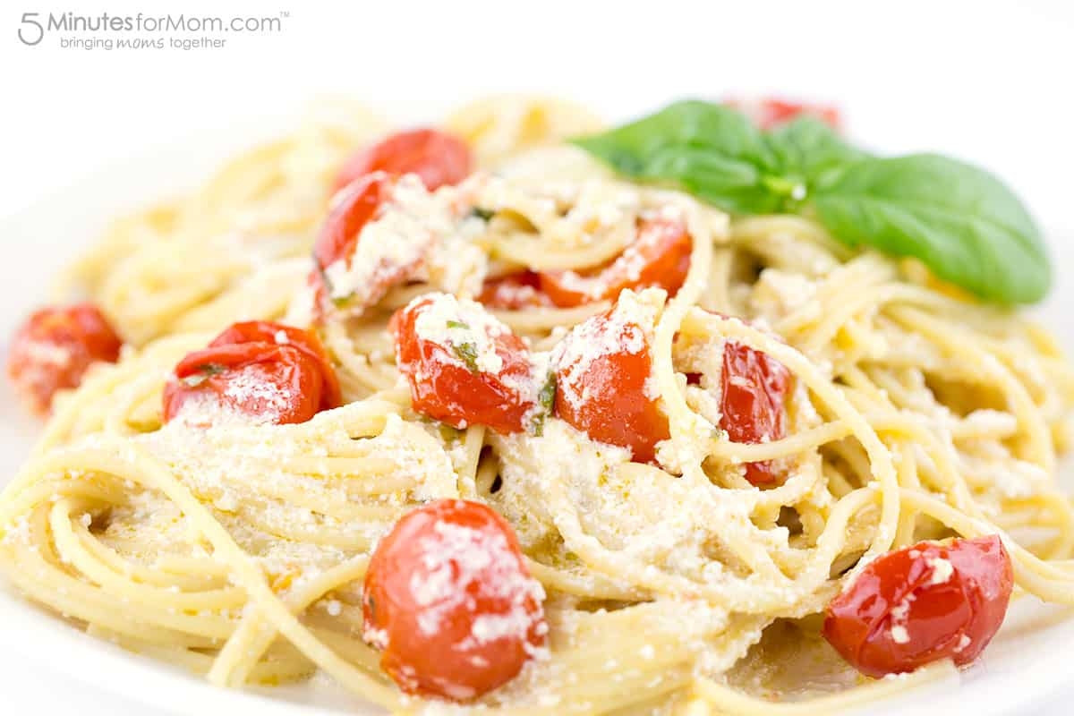 This spaghetti recipe sounds fancy, tastes delicious and is easy to make... Spaghetti Con Ricotta E Pomodorini Recipe by David Rocco.
