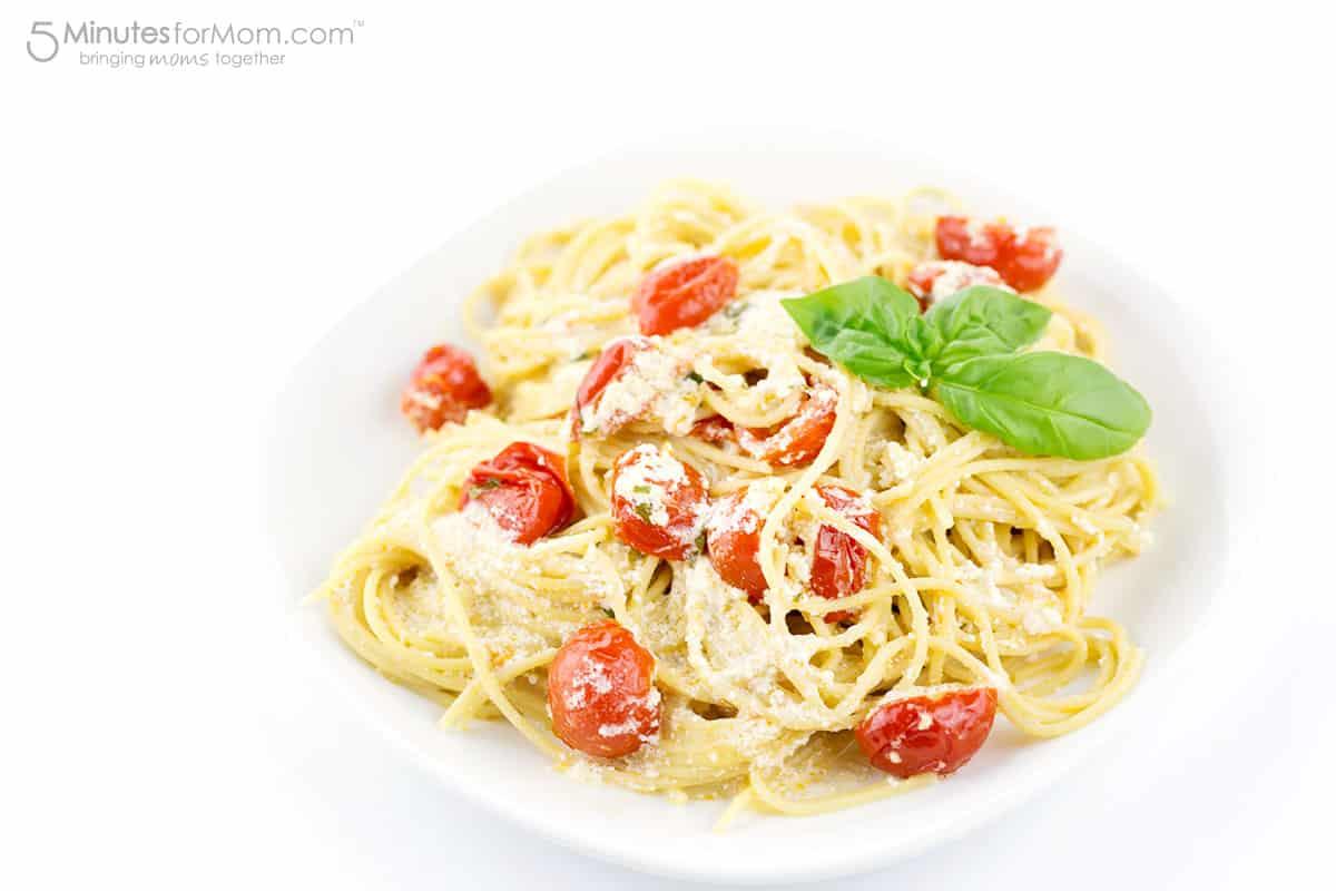 Spaghetti Con Ricotta E Pomodorini