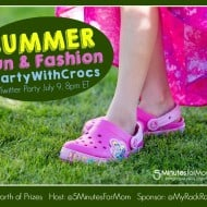 Let's #PartyWithCrocs and @MyRackRoomShoes – Summer Fun Twitter Party July 9, 8pm ET