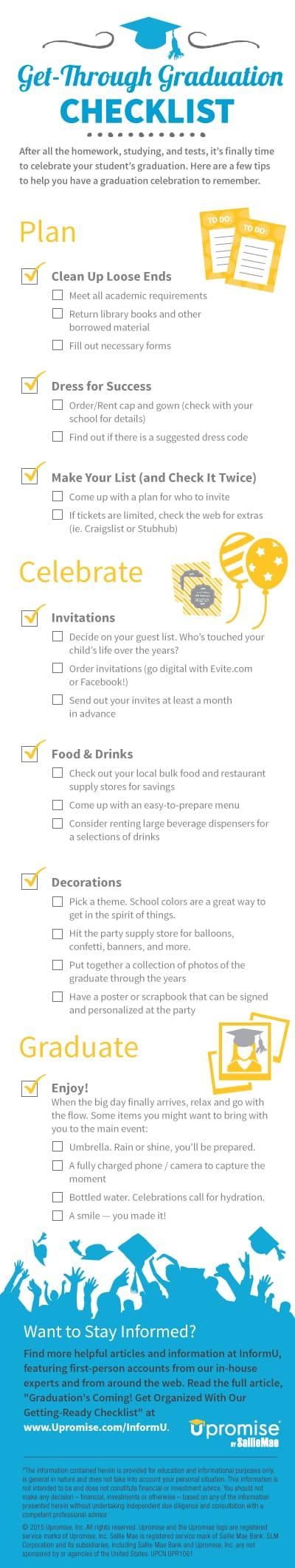 The Graduation Checklist | 5minutesformom.com