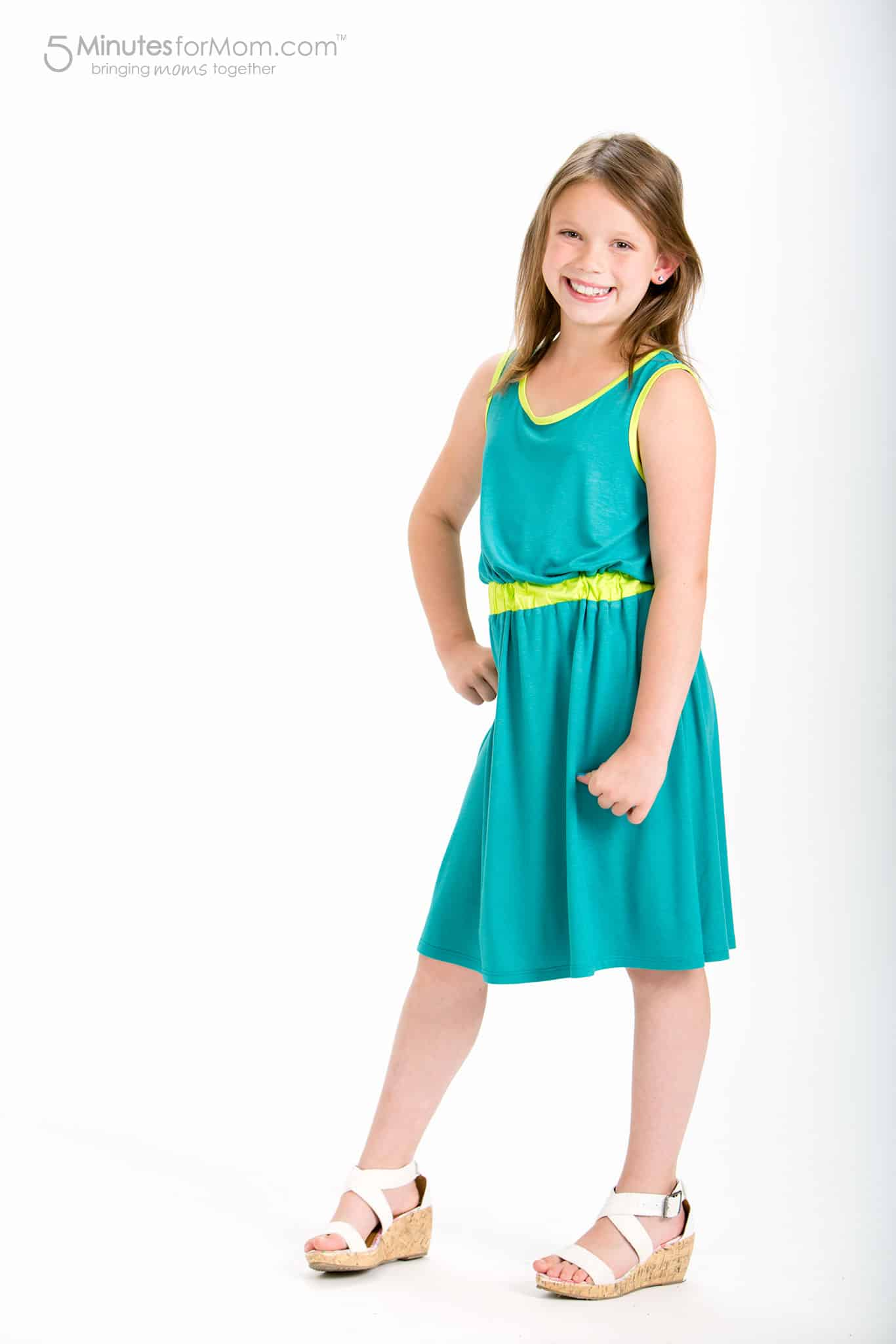 Evelyn Alex - Clothes for Tween Girls - Green Dress for Tweens