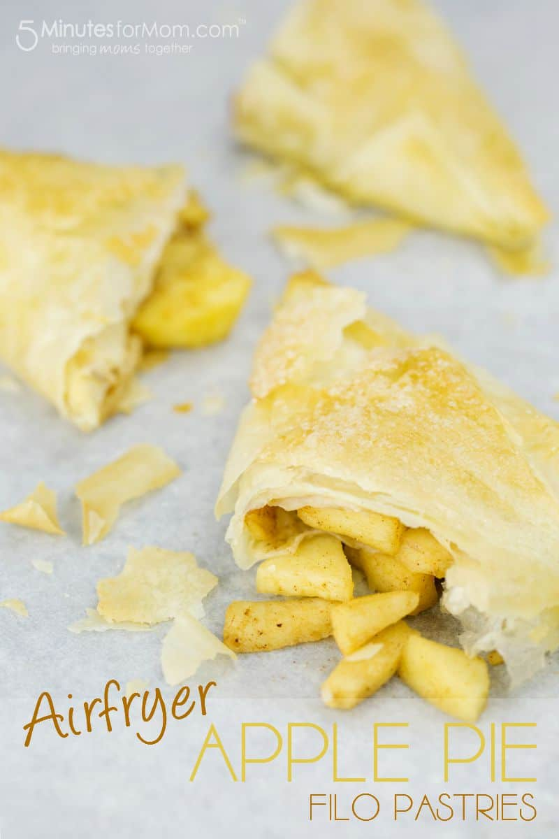 Airfryer Apple Pie Filo Pastries