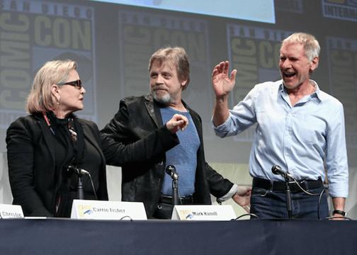 Comic-Con 2015 Carrie, Mark, Harrison