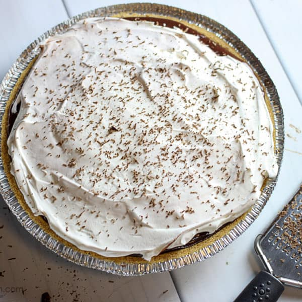 EASY Double Chocolate Pudding Pie
