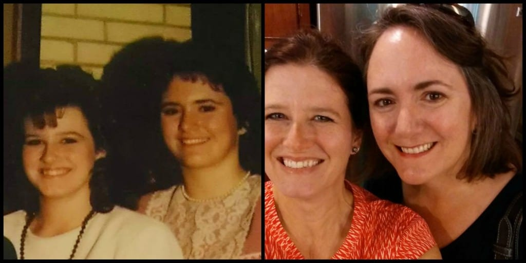 Mary and Jennifer Then and Now