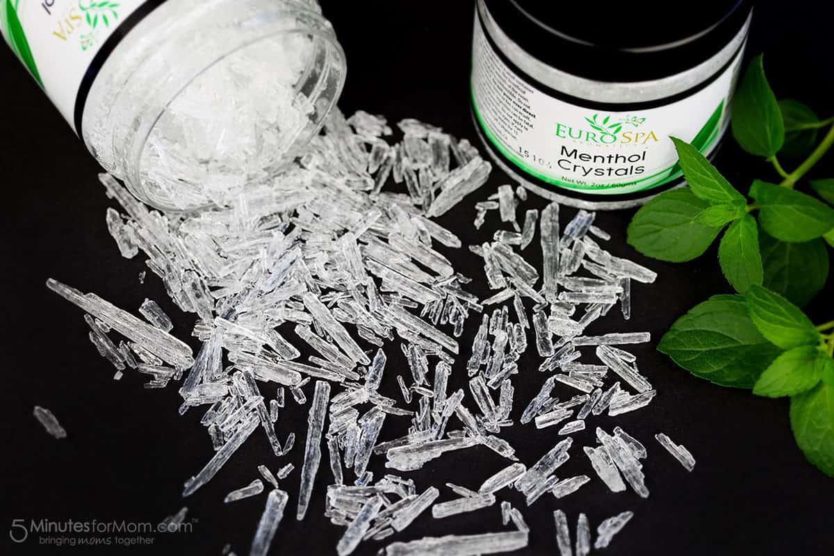 Menthol Crystals Macro