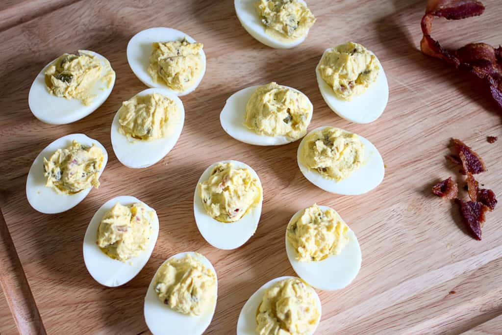 Perfect Deviled Eggs with Bacon & Jalapeno