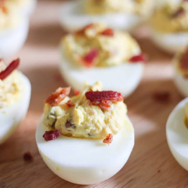 Perfect Deviled Eggs with Bacon & Jalapeños