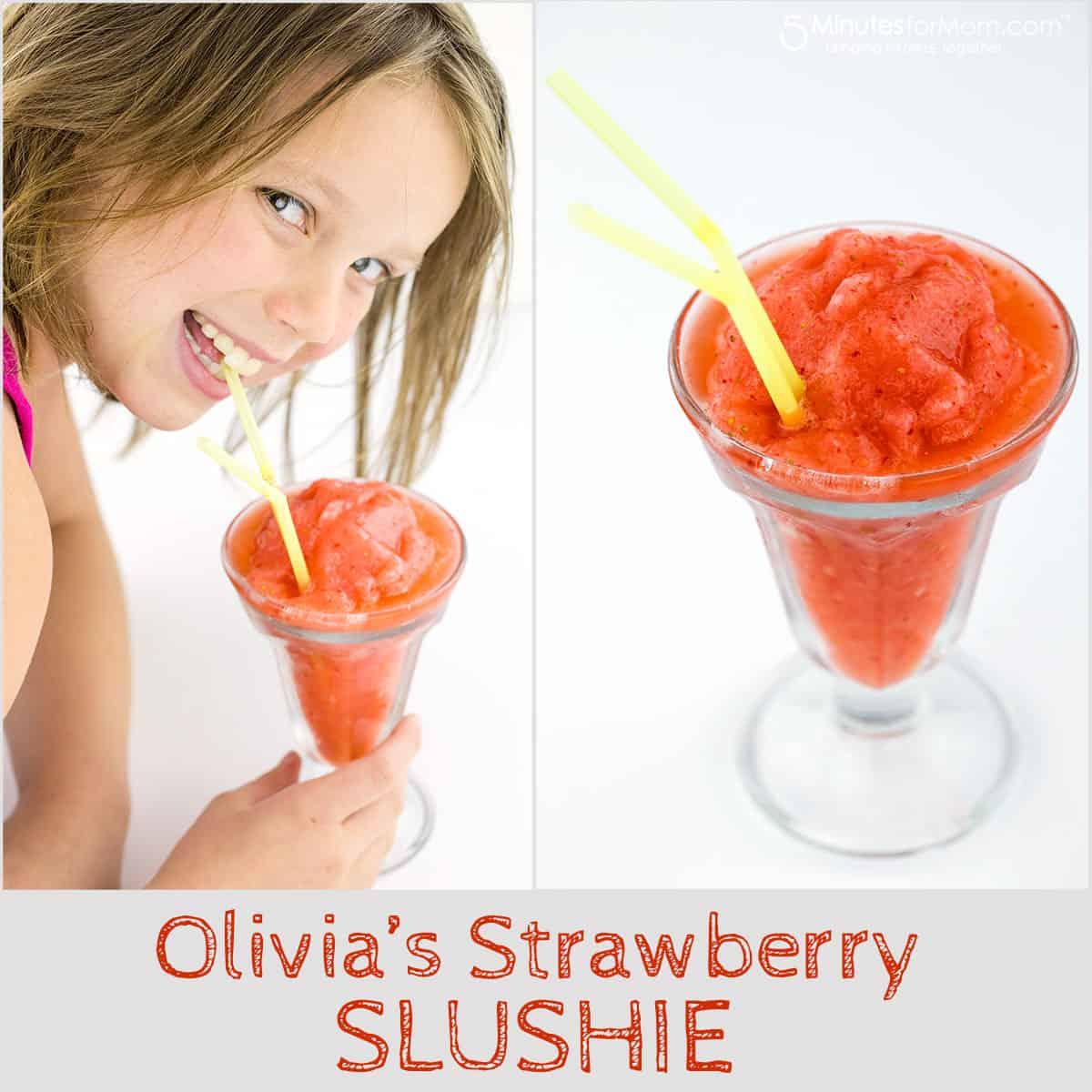 homemade strawberry slushie