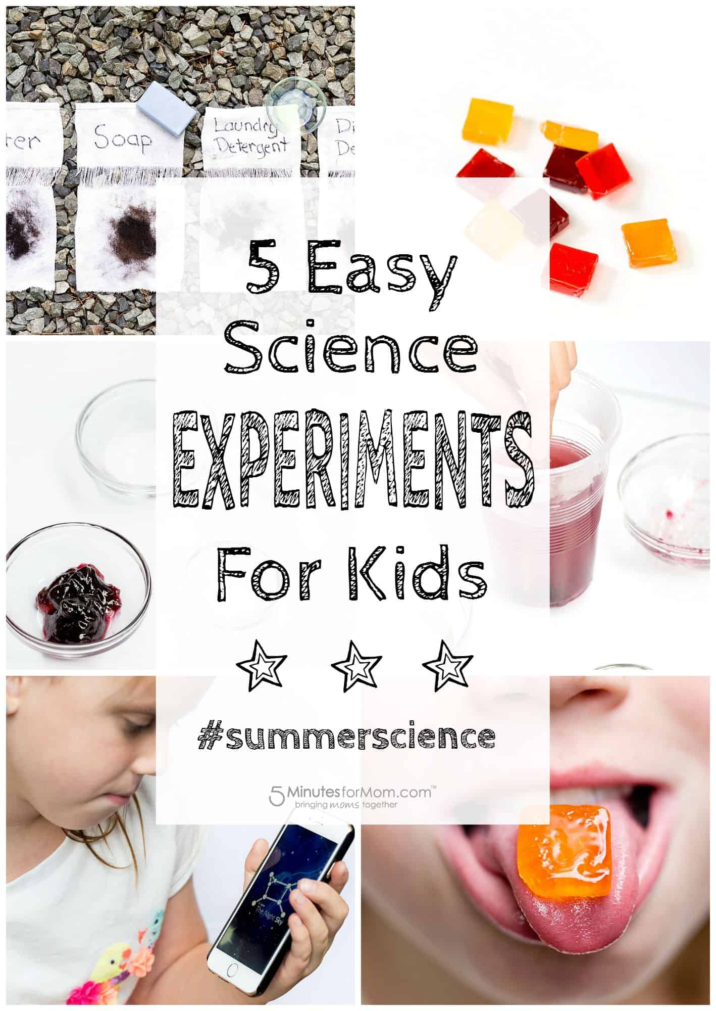 Summer Science For Kids - Fun Kids Science Experiments