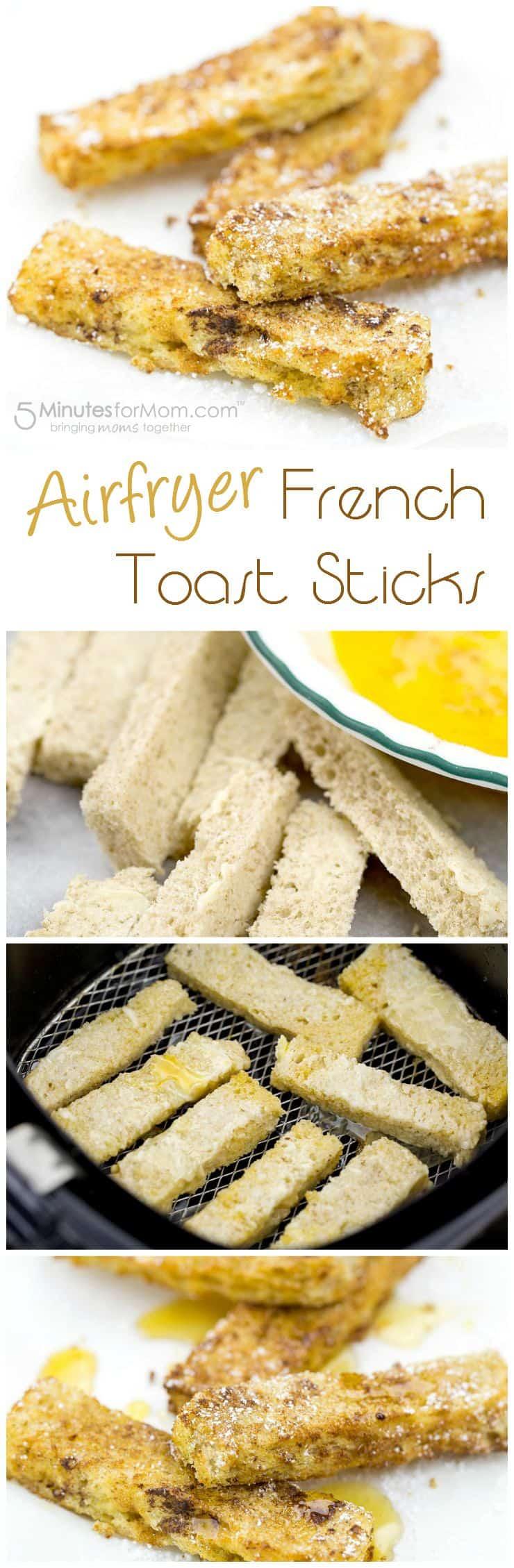 Airfryer French Toast Sticks Collage